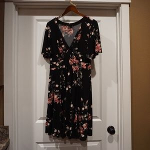 Torrid Size 0 Black with pink and grey print Dress